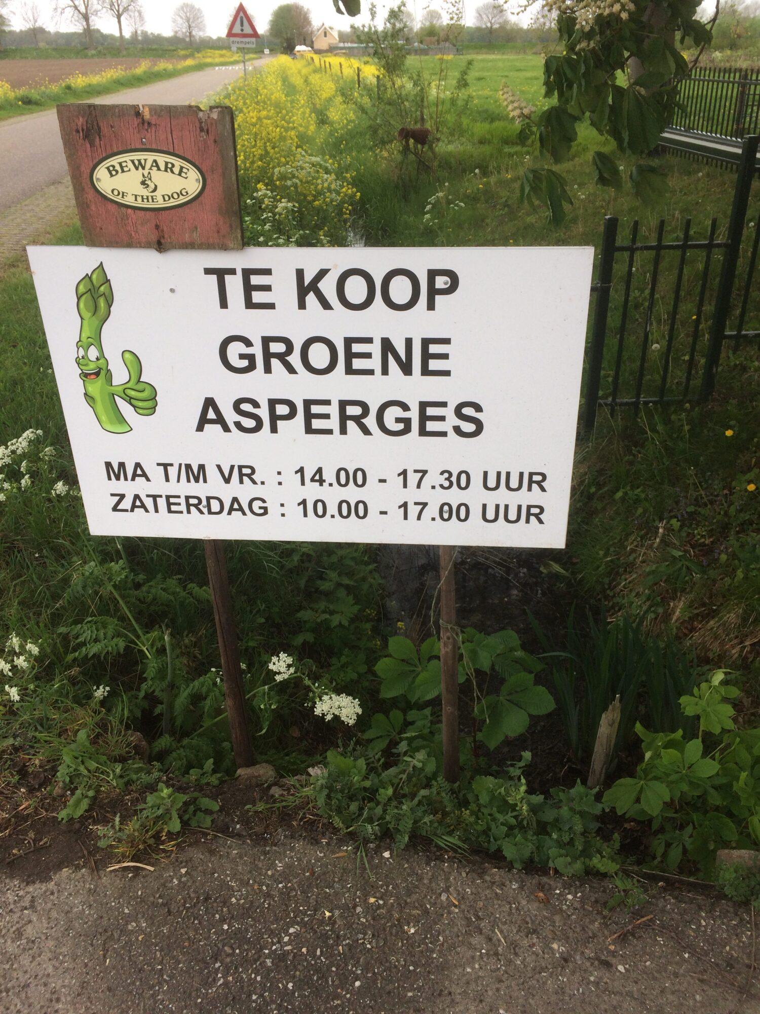 Verkoop asperges
